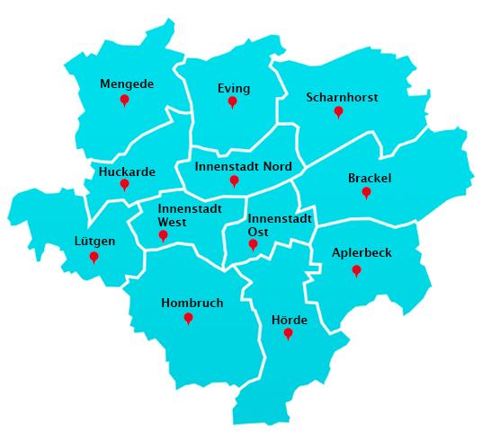 Wuppertal Karte Stadtteile.Hausmeisterdienst Touren In Dortmund Hausmeisterdienst In