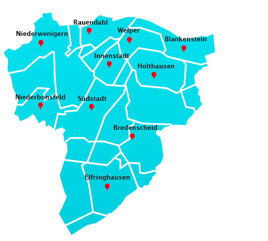 Wuppertal Karte Stadtteile.Hausmeisterdienst Touren In Hattingen Hausmeisterdienst In