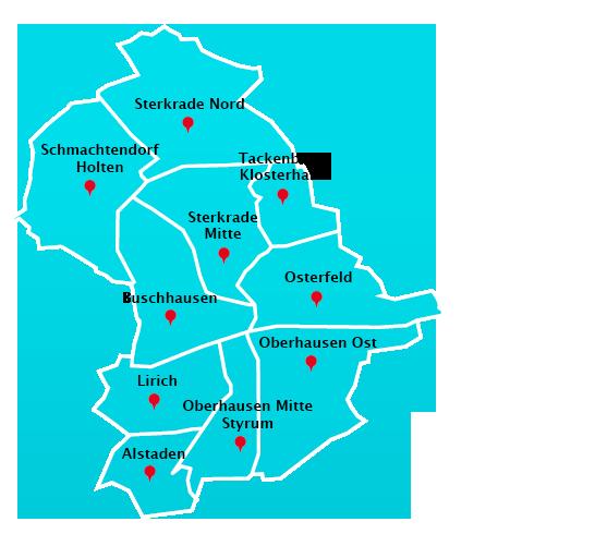 Wuppertal Karte Stadtteile.Hausmeisterdienst Touren In Oberhausen Hausmeisterdienst
